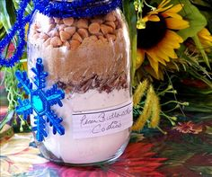 Pecan Buttersctotch Chip Cookies in a Jar Mix from Food.com: Be sure to place a ribbon on the jar with directions for baking.