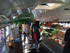 This is inside The Fresh Truck, a start-up that runs a mobile grocery store out of a former school bus. Liam Martin/WCVB-TV