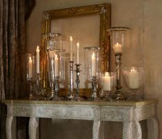 I really like using candles and the antique mirror in the back. Gives it almost a medieval romantic feel.