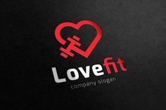 Love Fitness logo by Super Pig Shop on @creativemarket