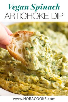 recipes appetizers The Best & Easiest Vegan Spinach Artichoke Dip, made with whole, real food ingre. The Best & Easiest Vegan Spinach Artichoke Dip, made with whole, real food ingredients (no store bought vegan cheese)! Vegan Apps, Vegan Foods, Yummy Vegan Snacks, Vegan Appetizers, Appetizer Recipes, Dairy And Gluten Free Appetizers, Gluten Free Vegan, Vegan Spinach Artichoke Dip, Vegan Artichoke Recipes