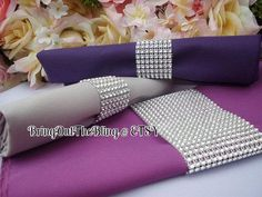 Set of 100  Silver Napkin Rings by BringOutTheBling on Etsy, $85.00