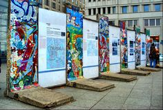 Remains of the Berlin Wall - Berlin Germany. I want to go back and how it had changed.