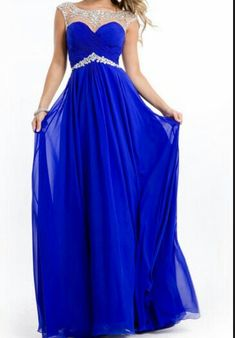 Cute blue prom dress