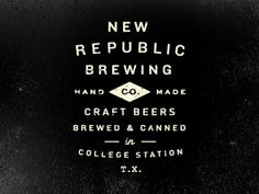 New Republic Brewing by This Old Machine