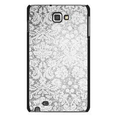 Samsung Galaxy Note Vintage Pattern Black And White Case