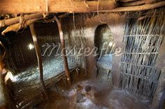 A bed room inside a Tazanian mud-hut.