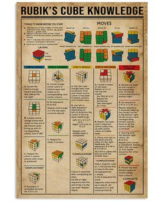 How To Solve Rubik Cube Survival Life Hacks, Survival Skills, Survival Tips, Simple Life Hacks, Useful Life Hacks, Solving A Rubix Cube, Interesting Information, Craft Activities For Kids, Things To Know