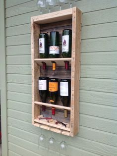 Simplistic - reclaimed wood wine rack - tall ( summer sale )