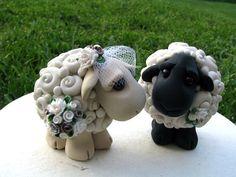 I Love Ewe Custom Keepsake Wedding Cake Topper by theaircastle