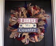 A personal favorite from my Etsy shop https://www.etsy.com/listing/223300867/july-fourth-wreath-americana-burlap