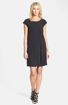 Eileen Fisher Wide Neck Silk Dress | Nordstrom