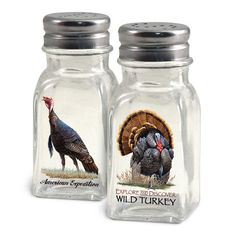 American Expedition Wild Turkey Salt and Pepper Shakers