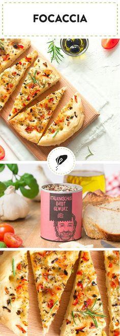 Focaccia mit italienischem Brot Gewürz