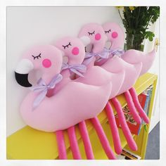 Pink plushie flamingos are now in stock!