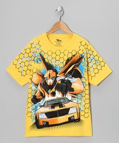 Another great find on #zulily! Daisy Transformers Bumblebee Tee - Boys #zulilyfinds