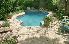 small+backyard+pools+pictures | Another great option sans the pavers.