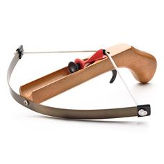 wooden cross bow pistol with safe suction arrows. want to chase my husband around the house with this.