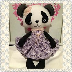 Perfect #Panda by the lovely Becka 💘🐼💖 so so pretty!  #dollsanddaydreams #pdfpatterns #sewingforkids #sewing #cutie #kawaii #kawaiiplush