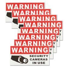 8Pcs Security Camera In Use Self-adhensive Stickers Safety Signs Decal Waterproo