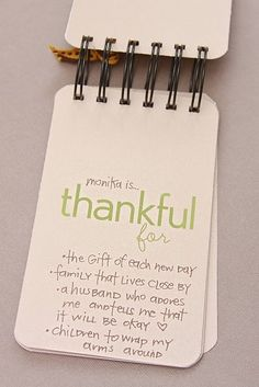 Thankful little notes to keep. #thanksgiving #ideas