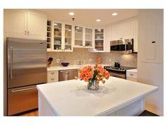 Bright white city apartment kitchen