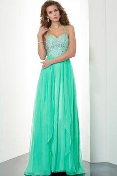 2013 Prom Dresses Empire Waist Halter Floor Length Chiffon USD 169.99 STPY9T2RNN - StylishPromDress.com