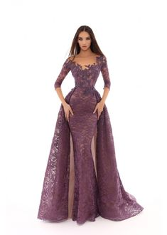 Tarik Ediz 93633 Fitted Lace with Train Mother of the Bride Dress Gala Dresses, Evening Dresses, Formal Dresses, Formal Evening Gowns, Prom Gowns, Pageant Dresses, Dinner Gowns, Cheap Party Dresses, Beautiful Gowns