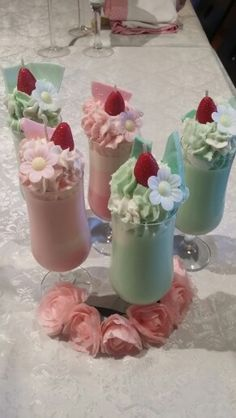 Milkshake candles