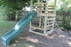playground0 600x400 Pallet playground in outdoor kids diy  with playground