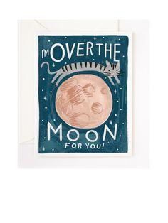Over the Moon Klappkarte
