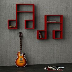 Music Note Shelves - a unique place to keep your albums and books. See more via homelysmart.com