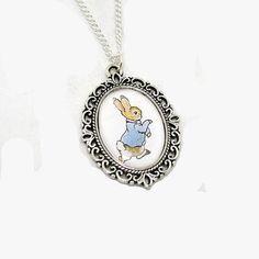 SALE  Beatrix Potter Peter Rabbit Cameo by LaurasJewellery on Etsy, £6.00