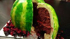 Redvelvet White ganache meloncake