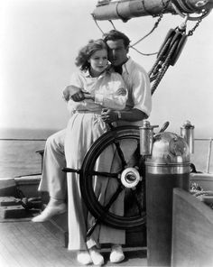 """Greta Garbo and Nils Asther in """"The Single Standard""""."""