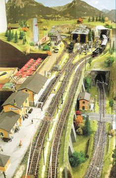 Ho Model Trains, Ho Trains, Ho Train Layouts, Escala Ho, Model Railway Track Plans, Train Route, Architectural Sculpture, Electric Train, Vintage Dog