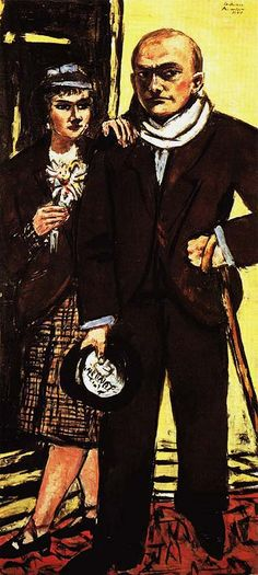 Max Beckmann Double Portrait of Max and Quappi Beck Mann 1941