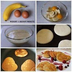 "ALL NATURAL PANCAKE RECIPE... NO PROCESSED ANYTHING!! *Share* to save on your own timeline.  - 1 ripe banana - 2 whole eggs  That's it. Just mix together in a bowl and make sure the banana is all mashed. Then spray your pan with some ""spray & cook"" or coconut oil. On a low to medium heat, scoop some of the batter into the pan & give it about 20-30 sec, flip, and done! Serve and eat!  Under 250 calories, nearly 14g of protein! No processed anything! These pancakes are gluten free, low…"