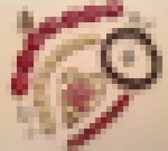 This is a pixelated image of the pendant I have been hoarding along with the beads I am sending to my swap partner. Carrie, Soup, Beads, Pendant, Colors, Party, Blog, Beading, Hang Tags
