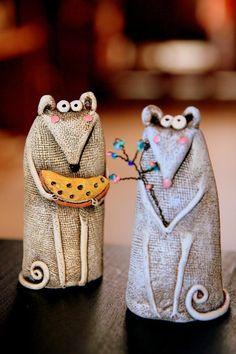 Ceramic Mice set Animal sculpture Funny Mice set Mouse – M Pottery Animals, Ceramic Animals, Slab Pottery, Pottery Art, Pottery Sculpture, Ceramic Elephant, Ceramic Art, Funny Mouse, Clay Birds