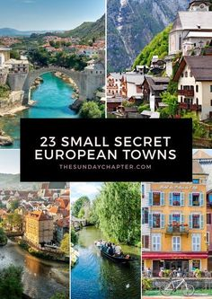 The most beautiful, underrated destinations in Europe you need to know about! Skip the crowds and fall in love with these small secret European towns. travel destinations 23 Small Secret European Towns You Must Visit Europe Destinations, Europe Travel Tips, Travel Goals, Backpacking Europe, Travel Eastern Europe, Travel Hacks, Holiday Destinations, Travelling Europe, Overseas Travel