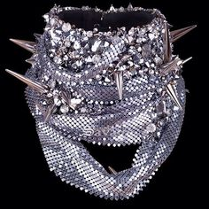 The Synaesthetics Neck Corset is available to order. Individually hand made in the studio Coated in crystals and steel spikes. Crystal Beads, Swarovski Crystals, Burlesque Corset, Melbourne Fashion, Fetish Fashion, Metal Mesh, Australian Fashion, Alternative Fashion, Women's Accessories