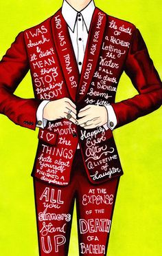 The Red Suit Brendon Urie/Panic At The Disco by OmegaloCreations