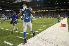 Detroit Lions wide receiver Golden Tate (15) blows a kiss to fans while running off the field after the Lions defeated the Miami Dolphins 20-16 at Ford Field in Detroit Sunday, November 9, 2014. (Mike Mulholland   MLive.com)