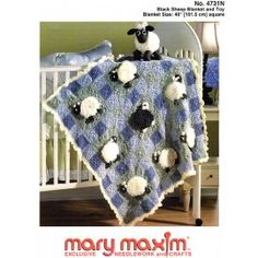Mary Maxim - Black Sheep Blanket and Toy Pattern