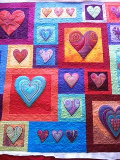 Love this quilt!   I do an 'all over' pattern just about like this one by Jessica's Quilting Studio  -  fun quilt!