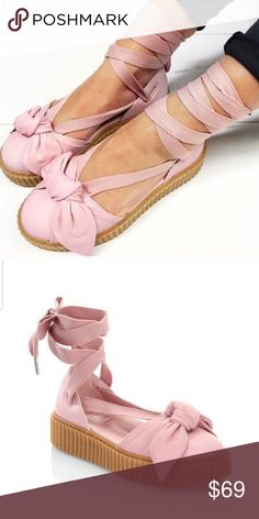 8bdbcffacf48e9 🆕️Fenty Puma Rhianna Creeper Ankle Tie Flatforms brand new w out box also  have