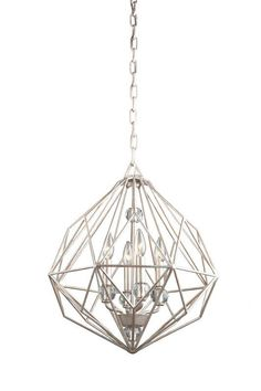 Don't think it fits with our house, but I dig it. Artcraft Lighting CD2004TS Textured Silver Monterey 4 Light Mini Chandelier - 18 Inches Wide - LightingDirect.com