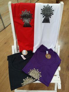 Camisetas con la Virgen del Pilar de Zaragoza en varios modelos.