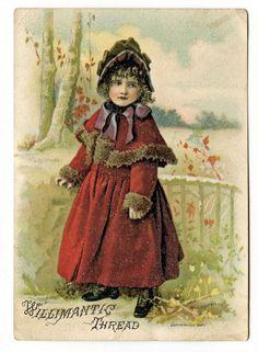 Free Ephemera Clip Art | Free Vintage Clip Art - Victorian Girl and Boy - The Graphics Fairy